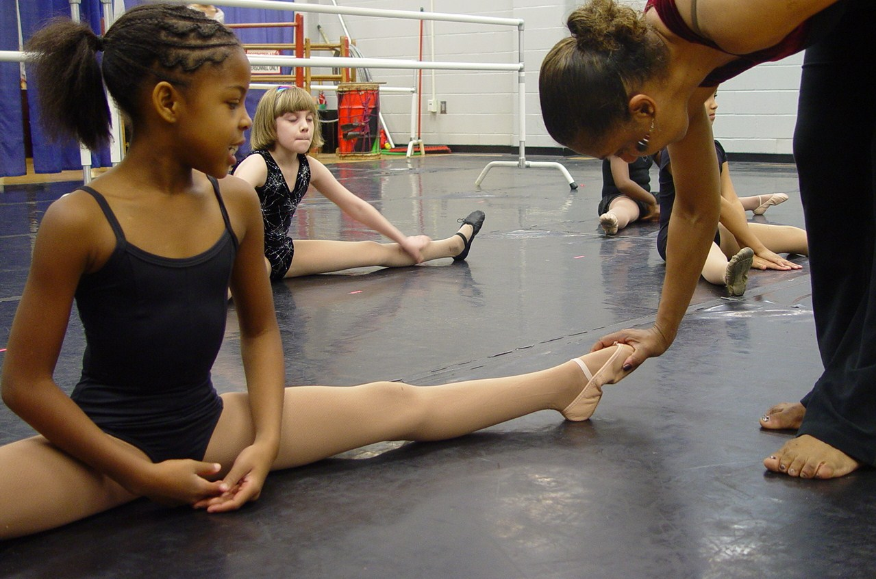 Ms. Axam instructing Medina Davis